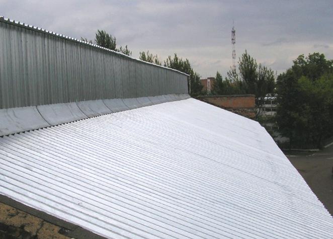 Окраска оцинкованных крыш